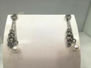Orecchini donna Zoppini in acciaio e perle cod. MPF55.00  LISTINO 59