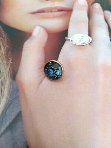Qudo Jewerly  pietra per anello Top bottone 11,5 mm azzurro