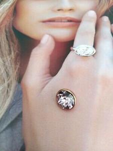 Qudo Jewerly  pietra per anello Top bottone 11,5 mm rosa