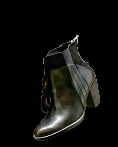 Stivaletto donna in pelle di vitello | fondo cuoio/gomma | Colore nero | made in Italy