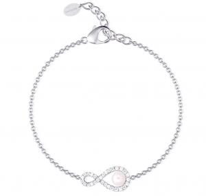 Mabina Bracciale Argento - Infinito Zirconi e Perla