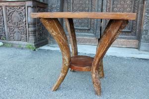 Tavolino quadrato in legno di teak
