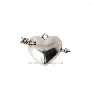 Ciondolo Cuore Cupido in metallo 3.5 cm - Decorazioni bomboniere matrimonio