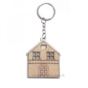 Portachiavi Casetta in legno 5 cm - Bomboniere matrimonio