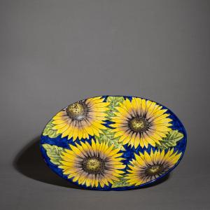 Piatto ovale in ceramica