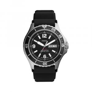 Orologio Uomo Solo Tempo Collezione FB-02 con datario e cinturino in silicone nero