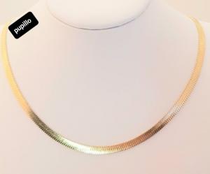 collana acciaio gold   piattina