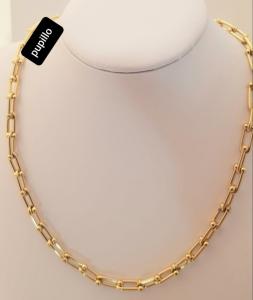 collana catena acciaio gold