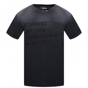 Dsquared 2 T Shirt girocollo nera  stampa