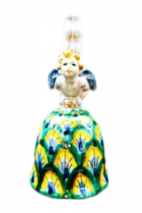 Souvenir The Bell With Angel Ceramics From Caltagirone