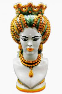 Woman Head with Turban