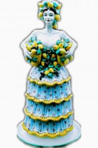 Candleholder Woman With Lemons