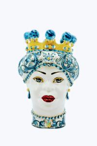 Testa di Donna Con Turbante Azzurro