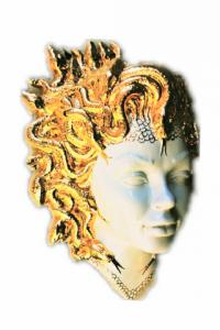 Medusa Gorgone With Snakes in Gold