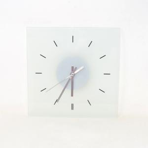 Glass Clock Square 28x28 Cm