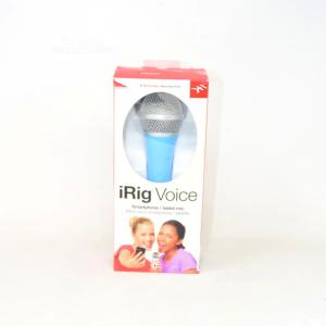 Microfono Per Smarthpone E Tablet I Ring Voice, Azzurro