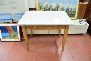 Tavolino From Kitchen With Drawer Wood