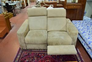 Sofa In Alcantara Beige Motorizzato Two