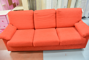 Sofa Red Removable Cover In Fabric 2 Seats