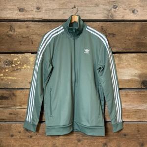 Felpa Adidas Beckenbauer Verde con Strisce Laterali Bianche