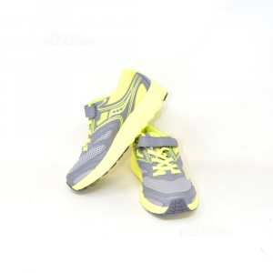 Shoes Boy Saucony N° 28 Gray Yellow New