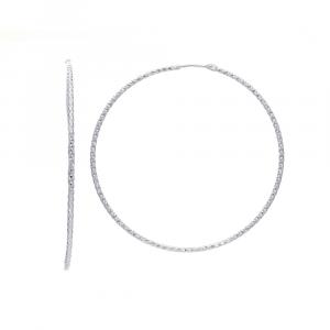 Orecchini Argento Sezione 2 Mm Ø 5Mm