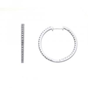 Orecchino Cerchio Argento Con Zirconi