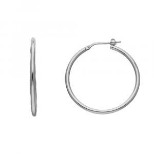 Orecchini Cerchio in Argento, diametro 30mm