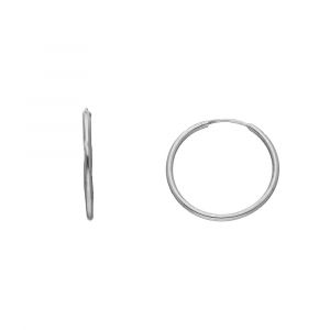 Orecchini Cerchio in Argento, diametro 20mm