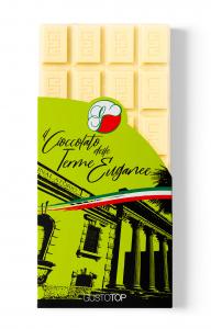Tavolette di Cioccolato Bianco con Frangola Crispy, 80 gr