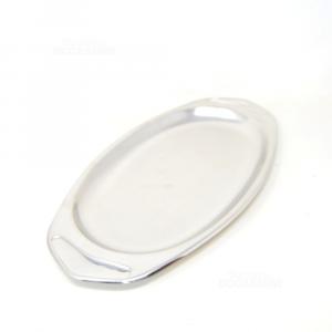 Tray Steel Oval Inoxamc,length 44 Cm