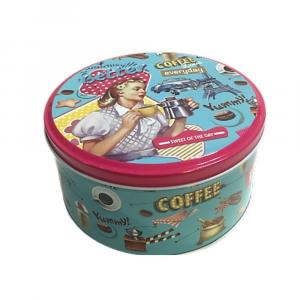 Scatola contenitore  in latta con coperchio Llnea Pin Up uso alimentare