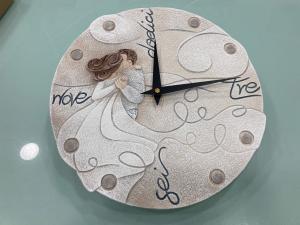 Orologio da parete Cartapietra La nostra Canzone tecnica bassorielievo dipinto a mano PF03076BA