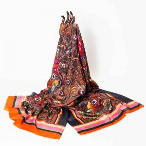 Pashmina in garza di puro cachemire William Morris
