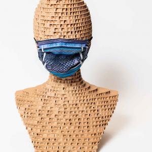 Mascherina triplo strato filtrante lavabile Denzel Azzurro