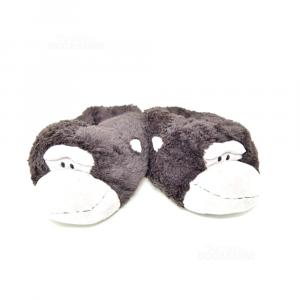 Slippers Shape Of Gorilla Brown N°.42