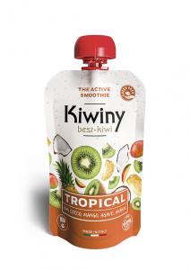 Frullato kiwi e latte di cocco, ananas e mango - Tropical Smoothie