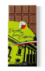 Tavoletta di cioccolato al latte 35% e fragola, confezione da gr 80