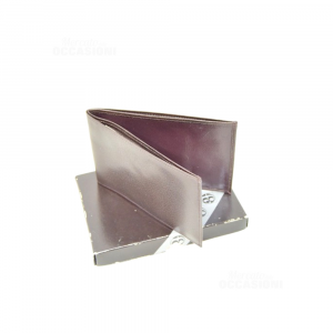 Porta Assegni In Pelle Colore Testa Di Moro