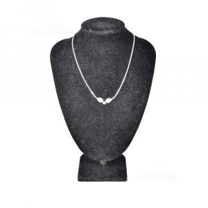 Collana In Argento 925 Con Foglie