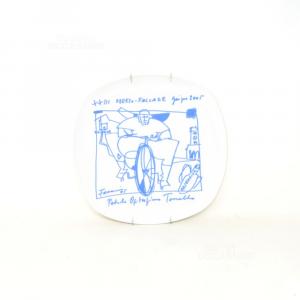 Piatto Da Appendere In Ceramica Oderzo Falcade