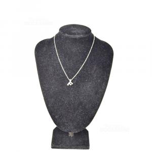 Collana In Argento 925 Con Lettera