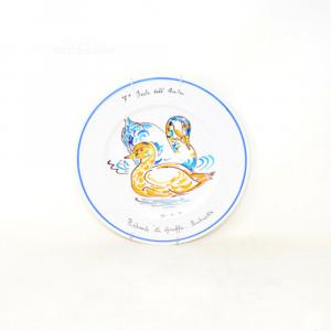 Piatto Da Appendere In Ceramica 7 Festa Dell'anatra