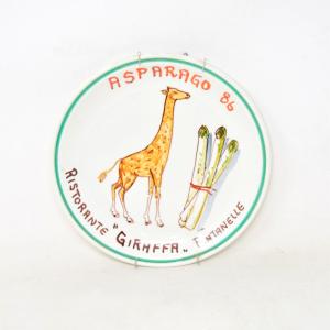 Piatto Da Appendere In Ceramica Asparago 86 Ristorante Giraffa