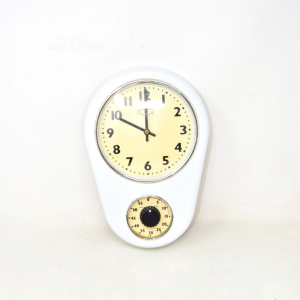 Watch White With Timer Double Dial
