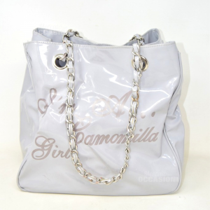 Bag Woman Chamomile In Patent Leather Grey Im To Chamomile