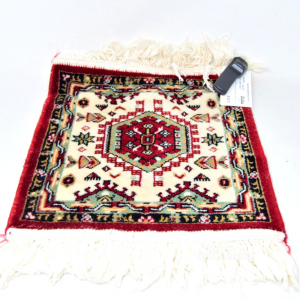 Carpet Red White Green 35x33 Cm