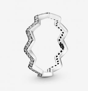 Anello Zigzag scintillante - 48