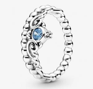 Disney, anello con tiara blu di Cenerentola - 52