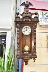 Pendulum Clock Wood With Acquila Working